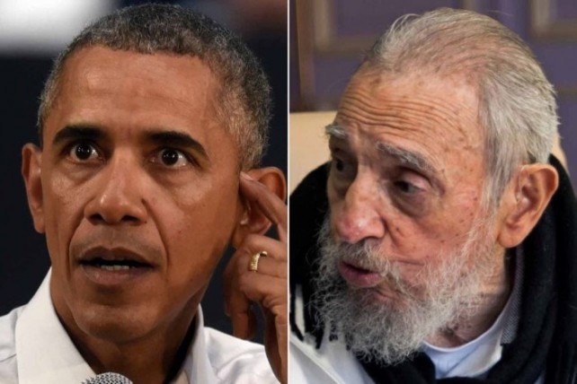 Castro (right) ripped Obama for assuming Cuba trusted him