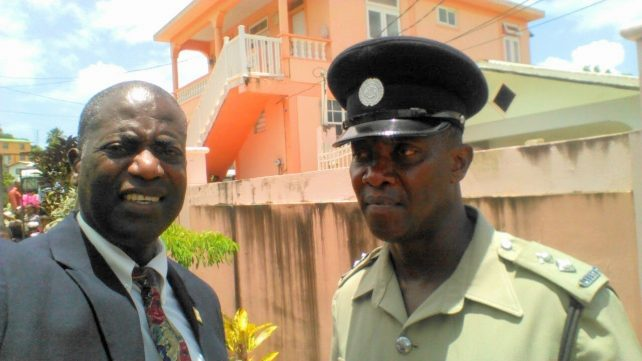 Dr. Christian in Paix Bouche with Inspector Romain, CDPF