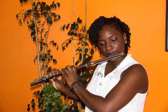 Affana is a Grade 3 Flute student