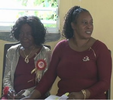 Ma Léonce (left) celebrated 100 years on April 27