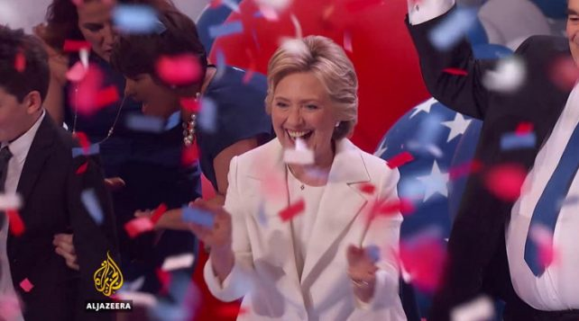 Clinton is the first woman to be nominated for US President by a major party