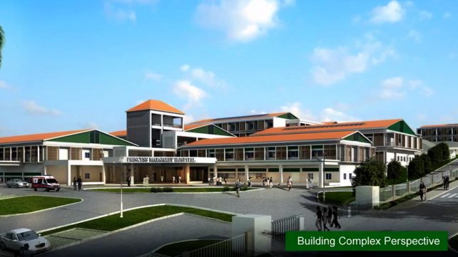 Artiste's rendition of a section of the new hospital