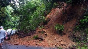 Landslide on road to Portsmouth