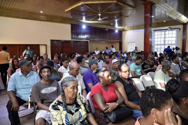 Government met with residents of Petite Savanne on Monday