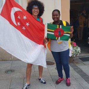 PHOTO OF THE DAY: Singapore meets Dominica at World Youth Day in Poland