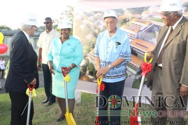 Ground breaking for the new hospital took place in August 2016