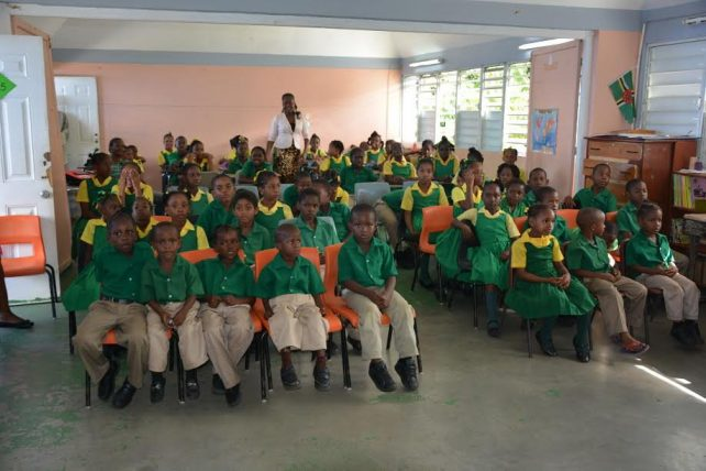 Students from the Penville Primary School