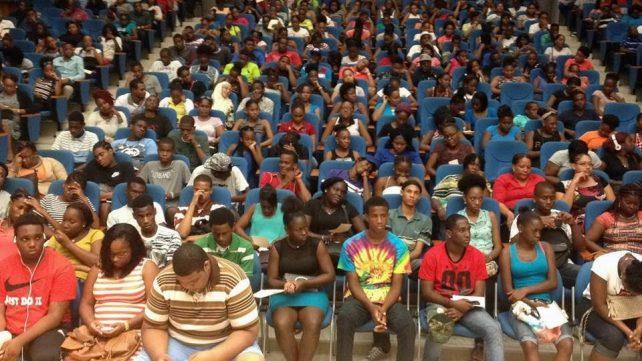 Students at DSC orientation. Photo: Facebook