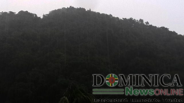 There were heavy showers in some sections of Dominica on Tuesday morning