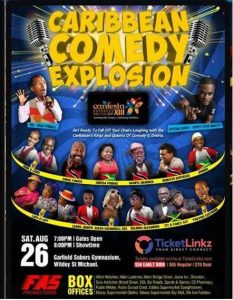 Watch live stream of CARIFESTA XIII Caribbean Comedy Explosion on Saturday