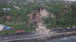 BREAKING NEWS: Landslide under Canefield Cliff