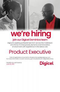 JOB VACANCY: Digicel Product Executive