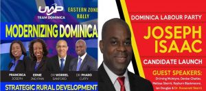 DLP, UWP reschedule political events to this Sunday