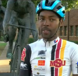 Former Dominican sports journalist competes in global cycling event