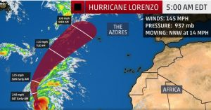 WEATHER UPDATE: Swells from Hurricane Lorenzo could affect Dominica by weekend