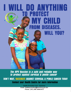 PUBLIC SERVICE ANNOUNCEMENT: Vaccinate against cervical and penile cancer today