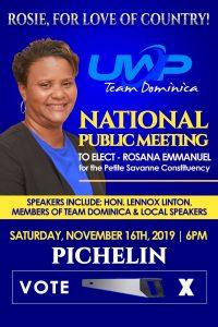 ANNOUNCEMENT: National public meeting to elect Rosanna Emmanuel (Pichelin)