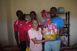WE United Football Club donates food hampers to 10 families