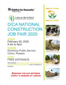 ANNOUNCEMENT: Dominica National Construction Job Fair