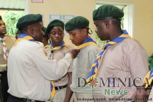 13 cubs and 10 scouts welcomed into Castle Bruce Scout Troupe