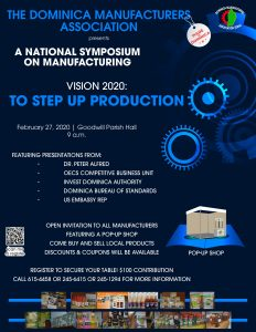 ANNOUNCEMENT: All Manufacturers invited to National Symposium on Manufacturing on Thursday 27th February 2020
