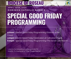 ANNOUNCEMENT: Catholic Church Good Friday programming in Dominica