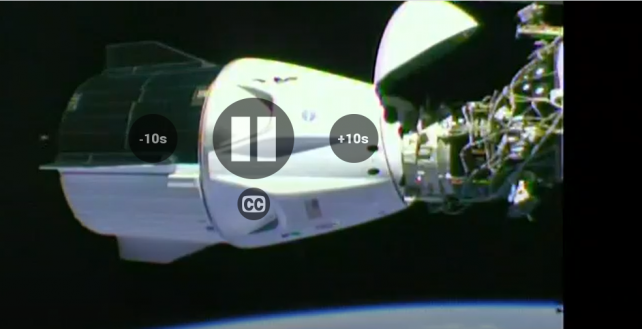 Astronauts dock with space station after historic SpaceX launch