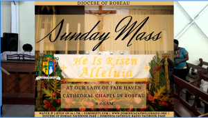 Sunday mass from the Roseau Cathedral Chapel – May 17th 2020