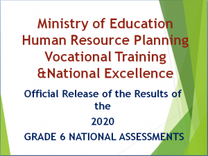 2020 Grade Six National Assessment results summary