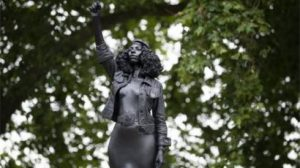 UPDATE: Statue of slave trader replaced by sculpture of Black Lives Matter activist