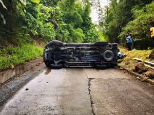 Accident in Fond Canie