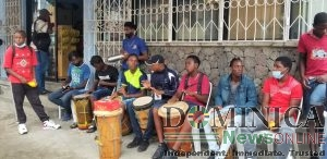 Youths showcasing Dominica's culture