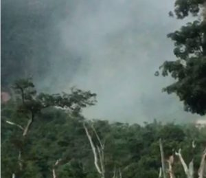 Emissions in Soufriere caused by landslide, according to ODM