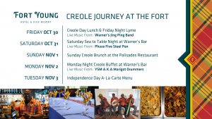 ANNOUNCEMENT: Fort Young Menu and Independence/Creole Calendar