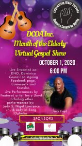 Dominica Council Of Ageing hosts Virtual Gospel Concert to celebrate month of the elderly