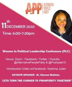 APP launches Annual Women in Political Leadership Conference today