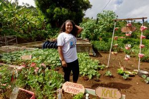 Anette Sanford announces backyard garden competition winners; seeks to restore confidence in subsistence farming