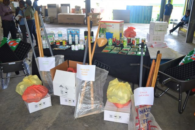 Six institutions receive 12 thousand dollars worth of inputs to help boost small-scale agriculture