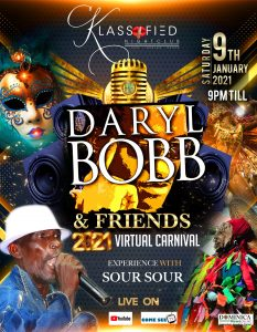 DNO LIVE: Daryl Bobb and Friends virtual carnival from 9pm