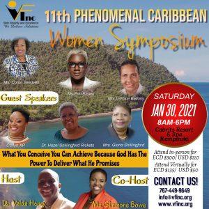 ANNOUNCEMENT: VF Inc 11th phenomenal Caribbean Women Symposium January 30th 2021
