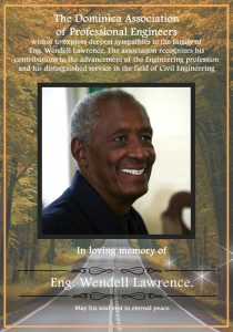 ANNOUNCEMENT: Dominica Association of Professional Engineers expresses condolences on passing of Wendell Lawrence
