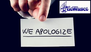 ANNOUNCEMENT: DOWASCO apologizes for the unscheduled service interruption in Warner