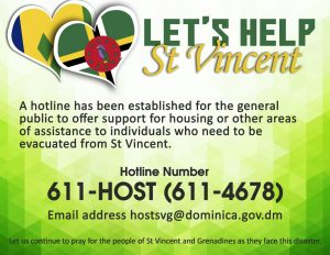 ANNOUNCEMENT: Let's help St. Vincent and the Grenadines