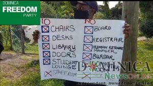 Dominica Freedom Party statement on ongoing industrial action at the Dominica State College