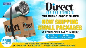 ANNOUNCEMENT: Direct Freight Services now shipping small packages and shipping out of Dominica