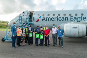 Dominica welcomes the first American Airlines jet to its shores