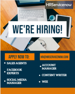 ANNOUNCEMENT: HR Service Now is hiring!