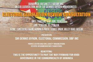 LIVE: Electoral Legislation Review Consultation