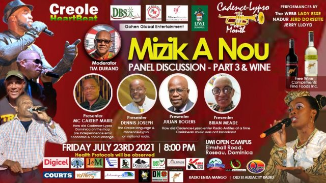 LIVE: Cadence-Lypso Month: 'Cadence and Wine' panel discussion