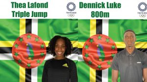 Lafond and Luke to be Dominica's flag bearers in Olympics opening parade